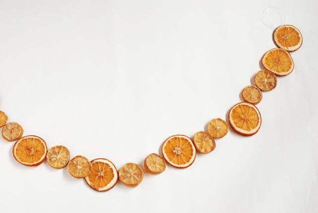 DIY 10/39 : guirlande d'agrumes séchés