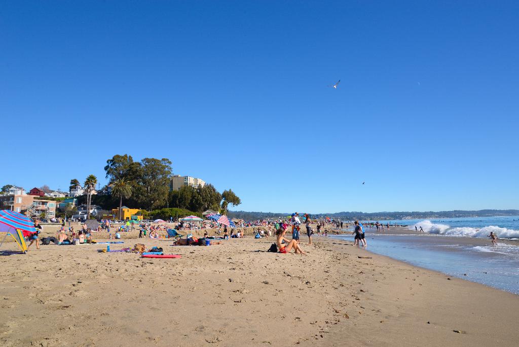 Un dimanche estival à Capitola Beach