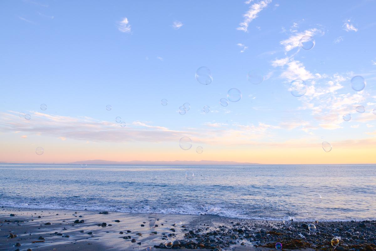 Capitola-beach-bulles