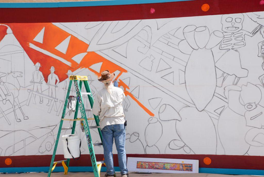 Murale future musée mexicain