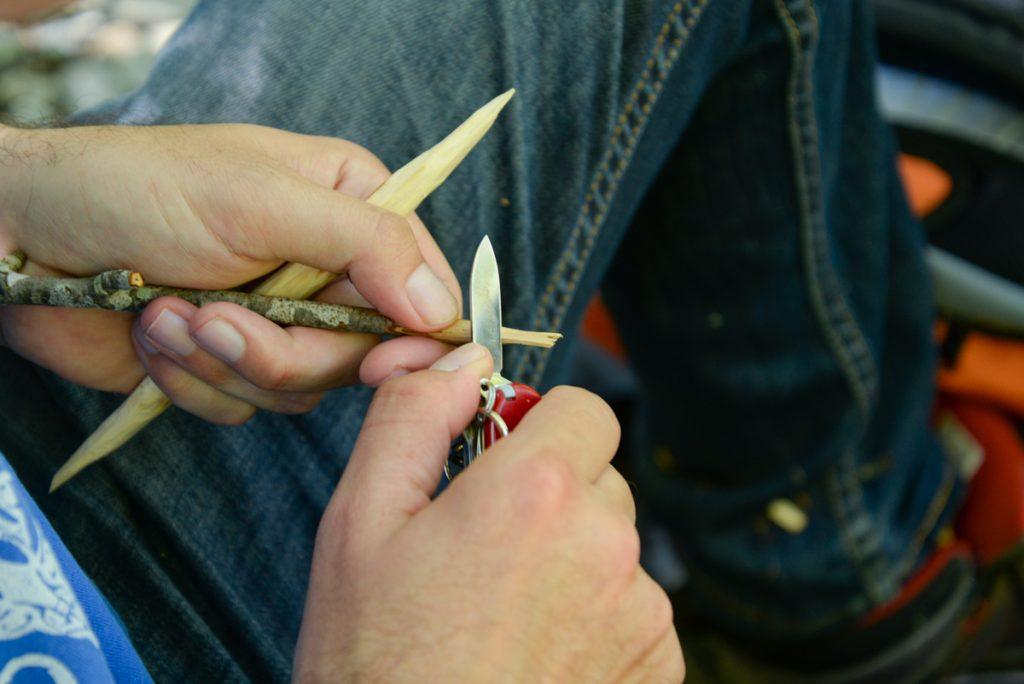 tailler les bâtons
