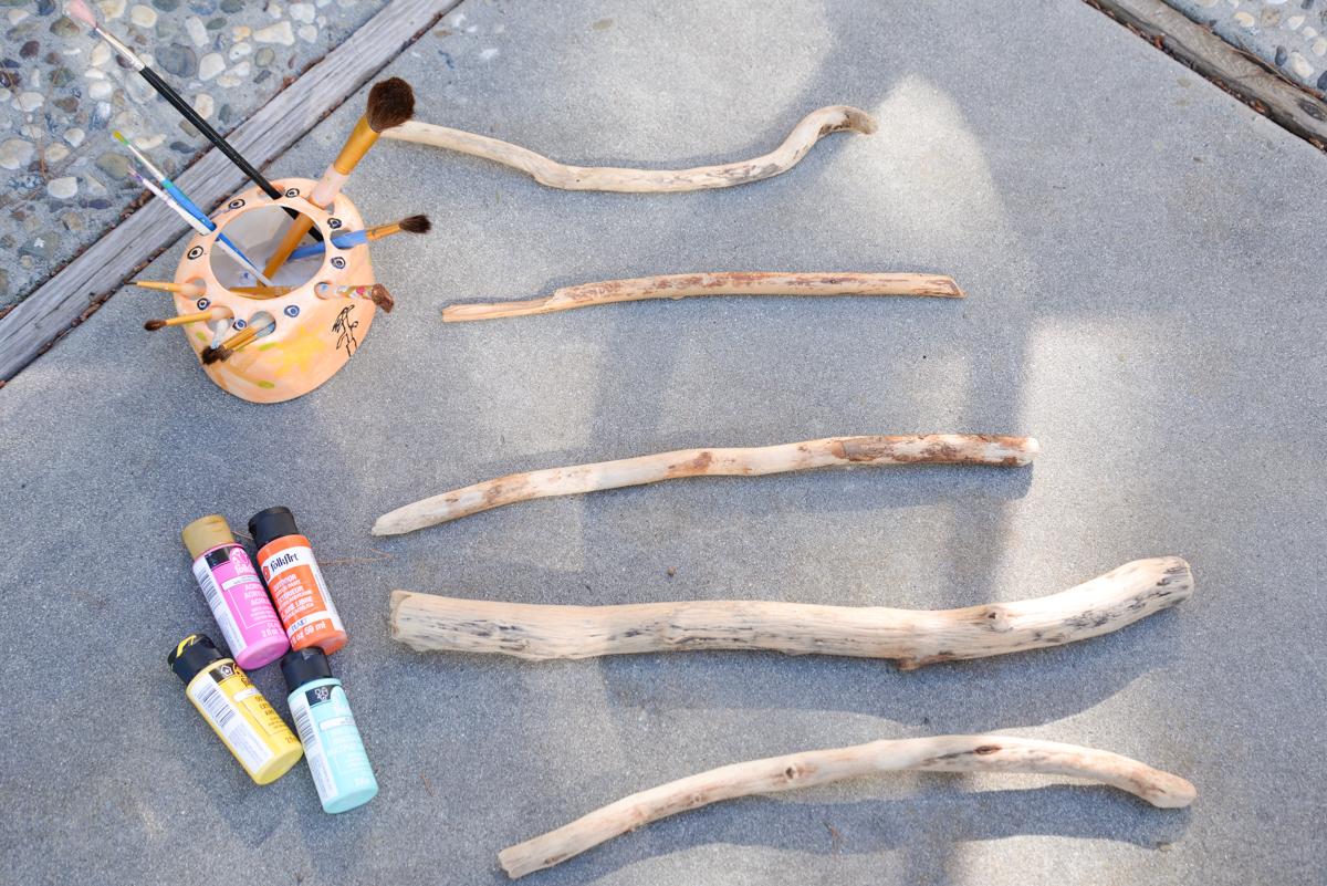 Mobile en bois flott joli bonheur un blog en californie for Bois flotte ou en trouver