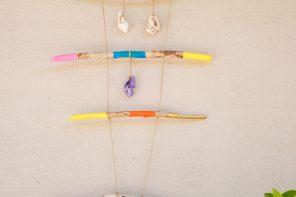 Diy un tableau recycl joli bonheur un blog lifestyle en californie - Mobile en bois flotte ...