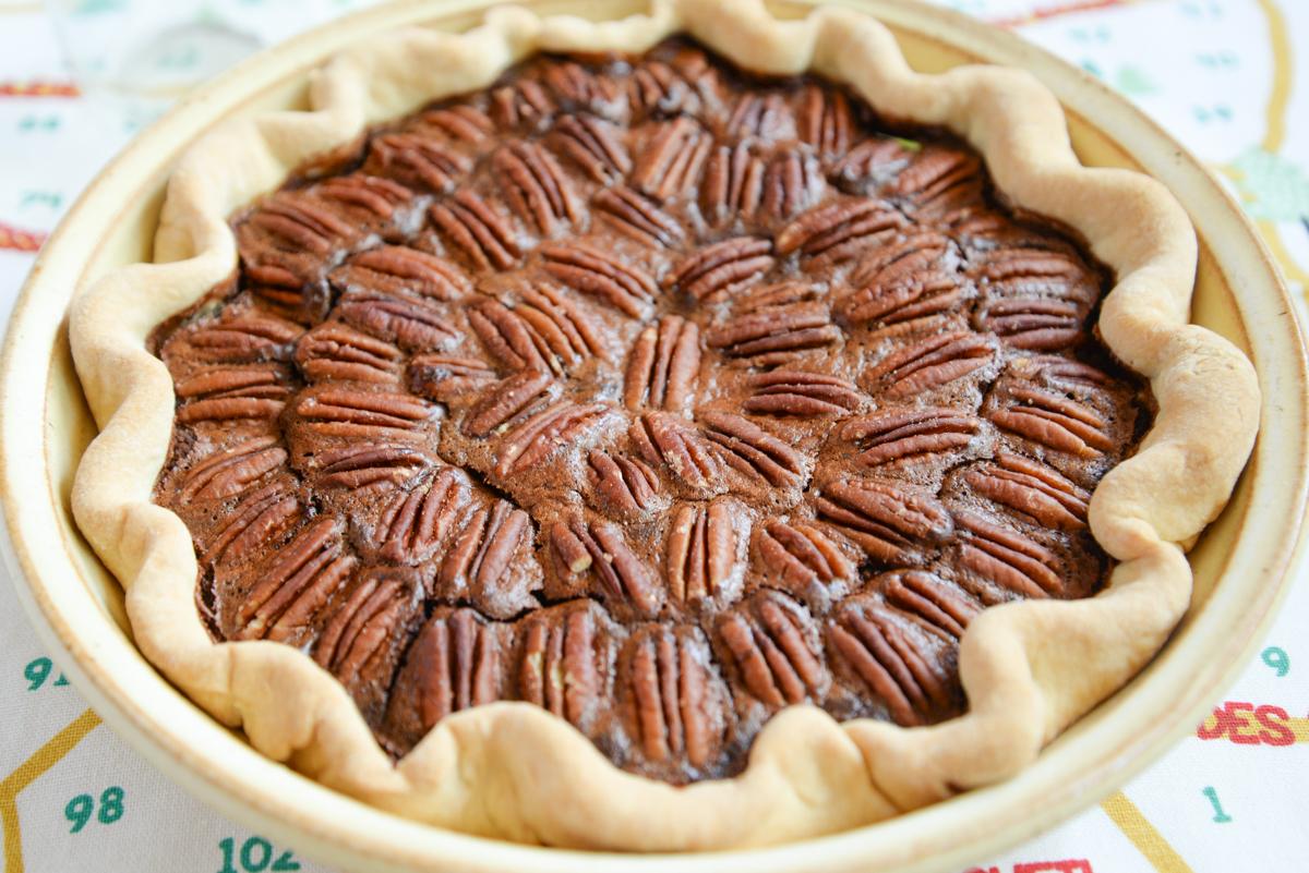 Tarte aux noix de pecans et chocolat