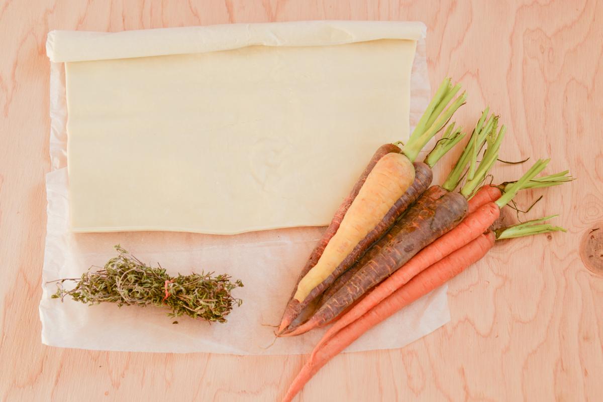 Tarte aux carottes caramélisées