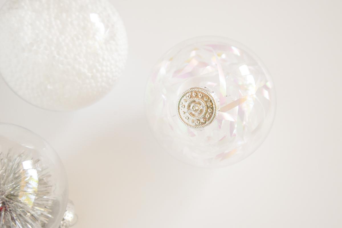 Boule De Noel Transparente A Decorer décoration de boules de noël transparentes - joli bonheur