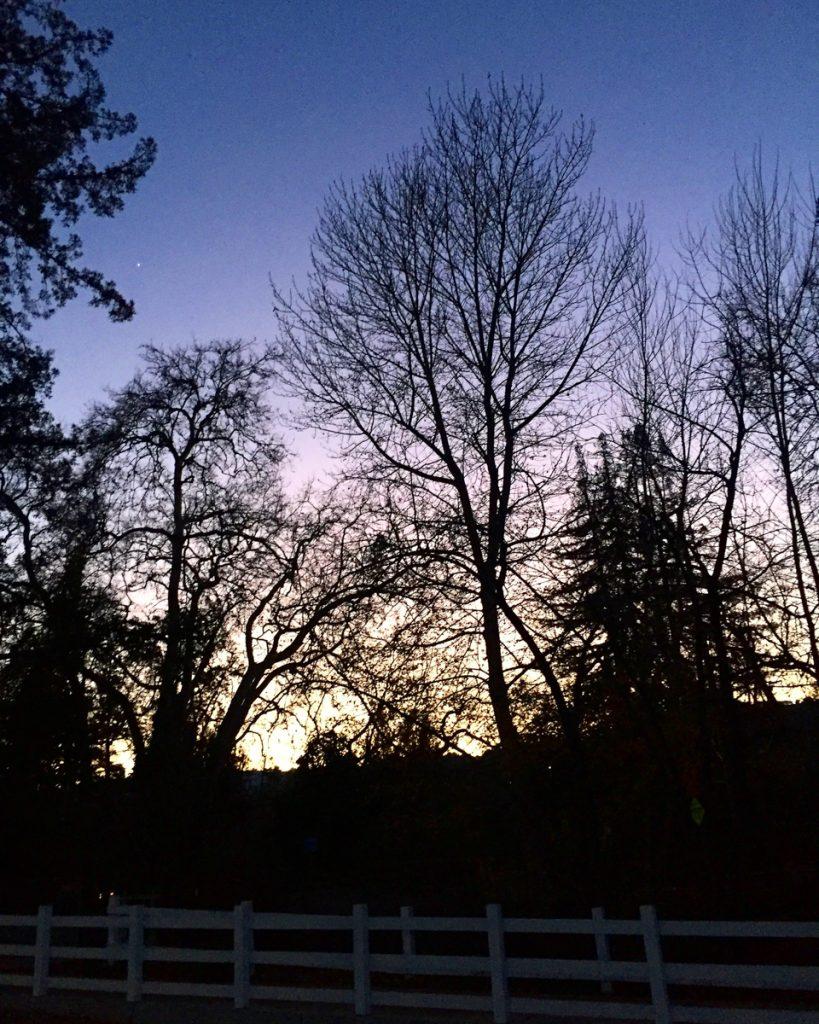 coucher soleil mauve
