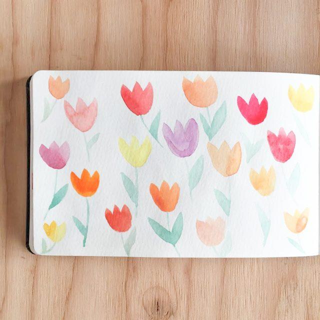 tulipes-aquarelles