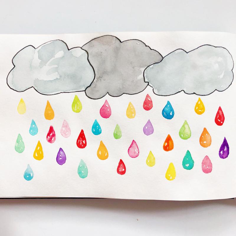 aquarelle-joli-bonheur-pluie