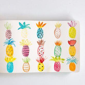 aquarelle-joli-bonheur-ananas
