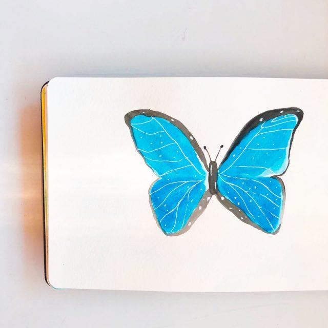 papillon-morpho-aquarelle