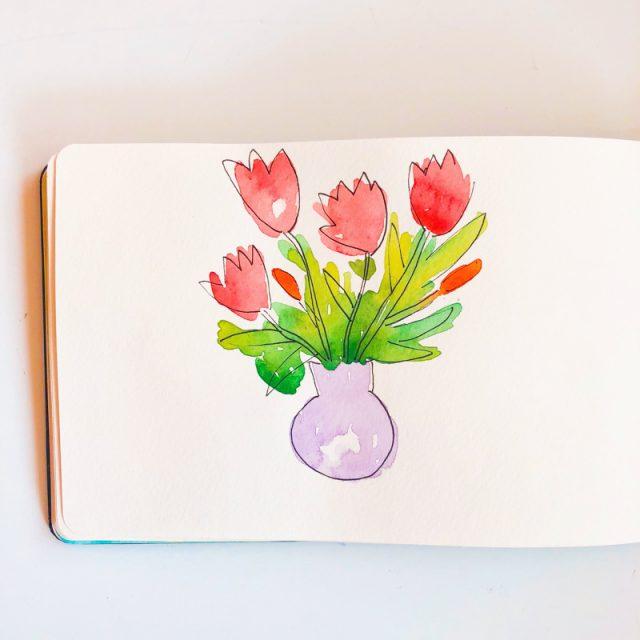 tulipe-aquarelle
