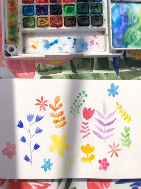 aquarelle-joli-bonheur-fleur-coloree