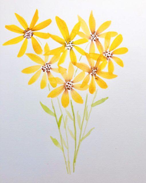 fleurs-simples-aquarelle