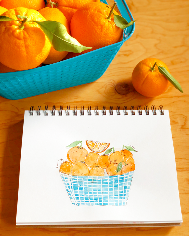 oranges-aqaurelle