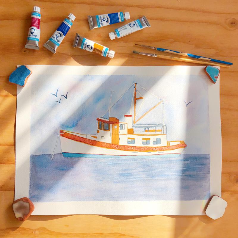 aquarelle-bateau